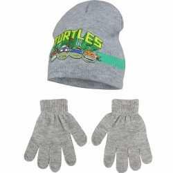 Ninja turtles grijze winterset 2 delig jongens