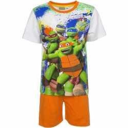 Ninja turtles korte pyjama oranje