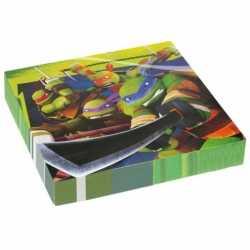 Ninja Turtles servetten 20 stuks