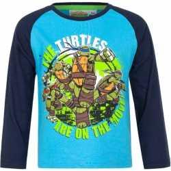 Ninja turtles t shirt blauw jongens