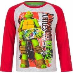 Ninja turtles t shirt grijs/rood jongens