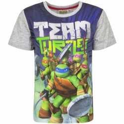 Ninja turtles t shirt grijze mouwtjes