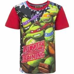 Ninja turtles t shirt rode mouwtjes