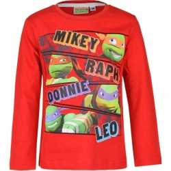 Ninja Turtles t-shirt rood