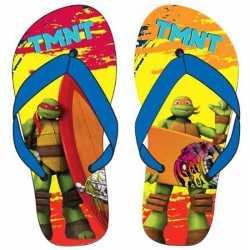 Ninja turtles teenslippers rood/oranje/blauw kinderen