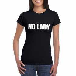 No lady tekst t shirt zwart dames