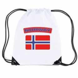 Noorwegen nylon rugzak wit noorweegse vlag