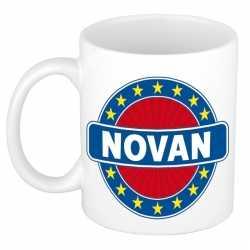 Novan naam koffie mok / beker 300 ml
