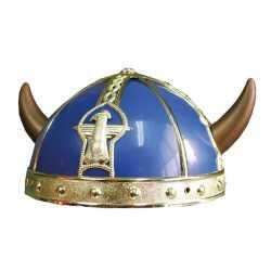 Obelix helm blauw hoorns