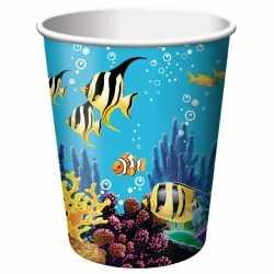 Oceaan thema feestbekers 8 stuks