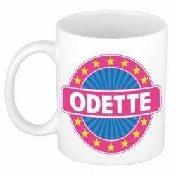 Odette naam koffie mok / beker 300 ml