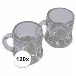 Oktoberfest 120x shotglas bierpul handvat 20 ml