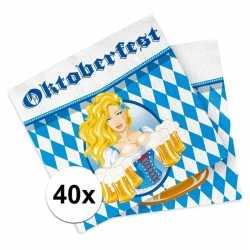 Oktoberfest 40x oktoberfest versiering servetten