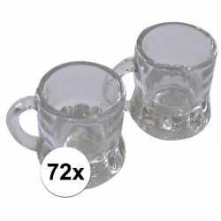 Oktoberfest 72x shotglas bierpul handvat 20 ml