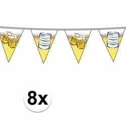 Oktoberfest 8x vlaggenlijnen oktoberfest / bierfeest 10 meter