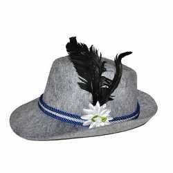 Oktoberfest Alpen hoed veer bloem