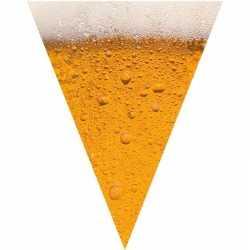 Oktoberfest bier print vlaggenlijn / slinger 6,4 meter