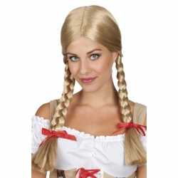 Oktoberfest Blonde Heidi pruik