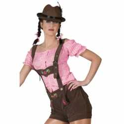 Oktoberfest Bruine lederhosen dames