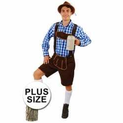 Oktoberfest grote maten korte lederhose andreas donkerbruin heren