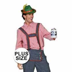Oktoberfest Grote maten Tiroler blouse heren