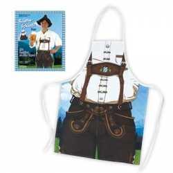 Oktoberfest Keukenschort man lederhose