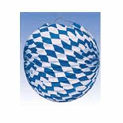 Oktoberfest Lampion blauw/wit 25