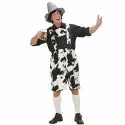 Oktoberfest Lederhose koeienprint