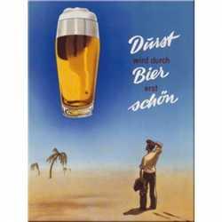Oktoberfest Muurdecoratie Durst wird durch bier erst schön 20 bij 30