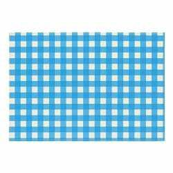 Oktoberfest placemat blauw/wit geblokt 43 bij 30