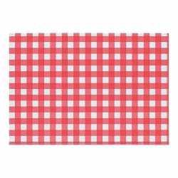 Oktoberfest placemat rood/wit geblokt 43 bij 30