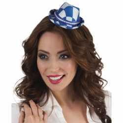 Oktoberfest tiara beieren hoedje blauw