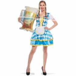 Oktoberfest tiroler beieren jurkje blauw