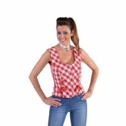Oktoberfest Tiroler shirt mouwloos rood