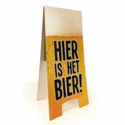 Oktoberfest waarschuwingsbord hier is het bier 55x25