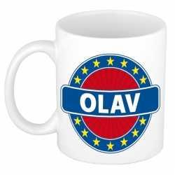 Olav naam koffie mok / beker 300 ml