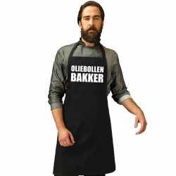 Oliebollen bakker keukenschort zwart heren dames