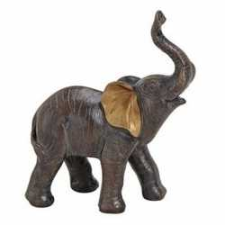 Olifant dieren beeldje bruin 12