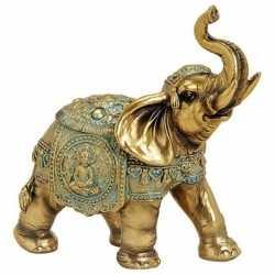 Olifant dieren beeldje goud 16 woondecoratie