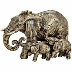 Olifanten dieren beeldje goud 13 woondecoratie