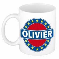 Olivier naam koffie mok / beker 300 ml