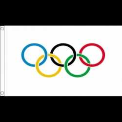 Olympische vlag 90 bij 150