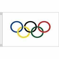 Olympische vlag 90 bij 60