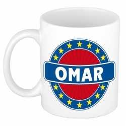 Omar naam koffie mok / beker 300 ml