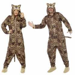 Onesie luipaard volwassenen