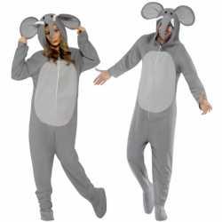 Onesie olifant volwassenen