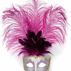 Oog masker roze veren
