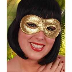 Oogmasker goud glitters
