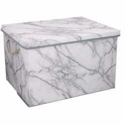 Opberg box / opberg doos marmer 50 66 liter
