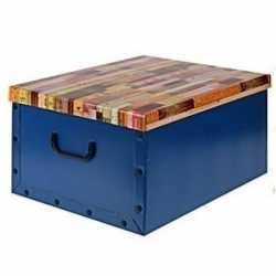 Opbergbox/opbergdoos blauw 50 bij 38